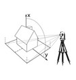 surveying for home vector image vector image