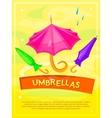 Umbrellas poster vector image vector image
