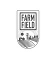 vertical farm fireld logo badge label design vector image