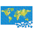 World map puzzle vector | Price: 1 Credit (USD $1)
