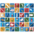 attributes of art icons vector image