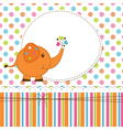 Baby background with elephant vector image
