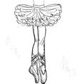 Beautiful ballerina vector image