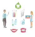 Dentists And Dental Care Poster vector image