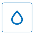 forecast weather Water drop icon vector image