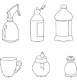 Kitchen elements icons vector image
