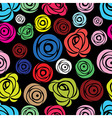 Pink rose seamless flower background patter vector image