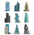 skyscraper high building tower city architecture vector image