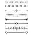 0015 hand drawn dividers vector image vector image