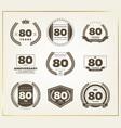 80 years anniversary logo set vector image