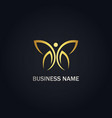 abstract butterfly beauty gold logo vector image