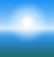 abstract sunrise over sea with copy space vector image