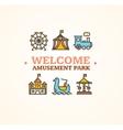 Amusement Park Embleme vector image