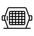 animal transportation cage icon outline style