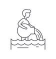 aquarius zodiac sign line icon concept aquarius vector image vector image