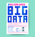 big data technology conference business design vector image