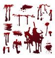 blood splashes set vector image vector image