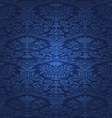 Blue Seamless abstract floral pattern background vector image vector image