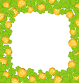 Border with clovers and golden coins for St vector image vector image