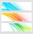 bright colorful modern futuristic dotted headers vector image vector image
