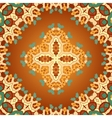 Brown and orange color seamles arabian print vector image vector image