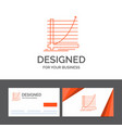 business logo template for arrow chart curve vector image