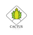 cactus logo design creative badge with desert vector image vector image