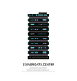 cartoon server data center icon in flat style vector image vector image
