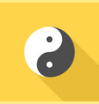 chinese philosophy yin and yang sign icon vector image vector image