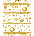 christmas background with golden glittering vector image vector image