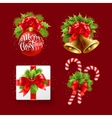 Christmas sign set vector image vector image