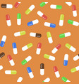 colored pills seamless medical pattern vector image vector image