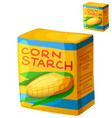cornstarch icon isolated on white background vector image vector image