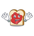 crazy bread with jam mascot cartoon vector image vector image