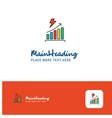creative graph rising logo design flat color logo vector image