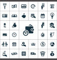 credit icons universal set for web and ui vector image
