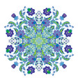 design for square pocket shawl textile paisley vector image