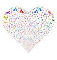 doctor fireworks heart vector image vector image