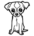 dog and puppy coloring page vector image