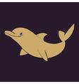 Dolphin sea animal silhouette vector image vector image