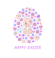 Easter concept card vector image