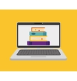 Elearning online education vector image vector image