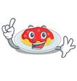 finger spaghetti character cartoon style vector image vector image
