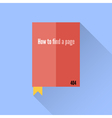 Flat book icon 404 error faq vector image