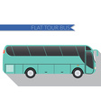 Flat design city Transportation Bus intercity long vector image vector image