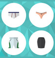 flat icon dress set of stylish apparel lingerie vector image vector image