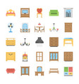 furniture flat icons pack vector image vector image