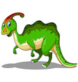 Green dinosaur standing on white vector image vector image