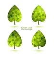 Green mosaic leaf vector image vector image