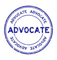 grunge blue advocate word round rubber seal